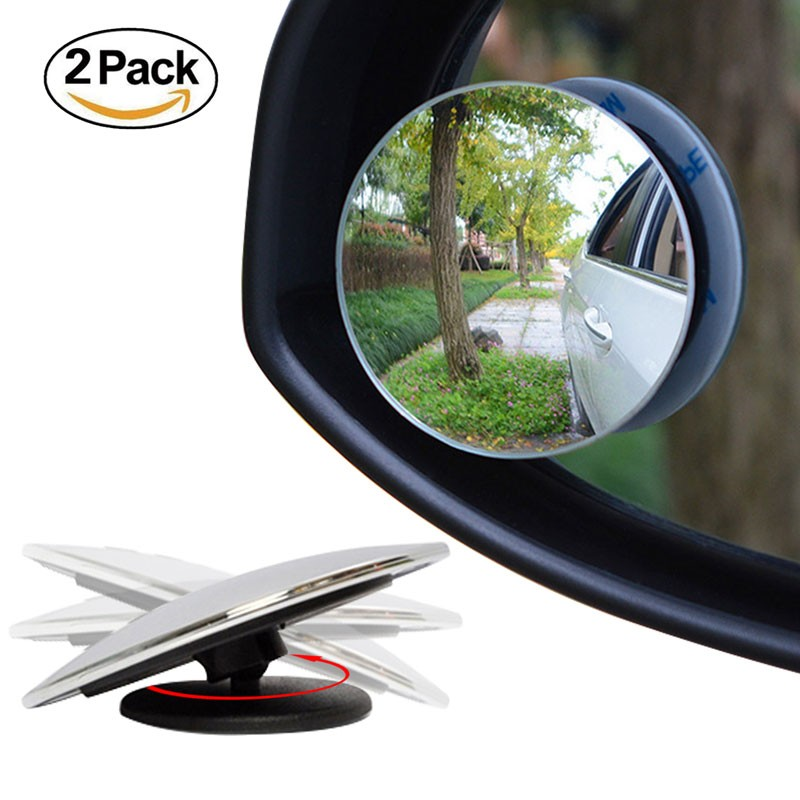 ampper blind spot mirror 2 39 round hd glass convex rear view mirror pack of 2. Black Bedroom Furniture Sets. Home Design Ideas
