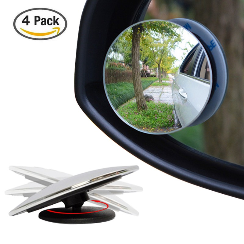 4 Pack Upgrade 2 Blind Spot Mirrors Ampper 360 176 Rotate