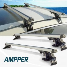 "Ampper Aluminum Car Luggage Racks, Roof Rack Cross Bars (48"", Set of 2)"