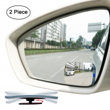 Ampper 2 Pack Slim Square 360° Rotate + 20° Sway Adjustabe Blind Spot Mirror, HD Glass Convex Wide Angle Rear View Car SUV Universal Fit Stick On Lens