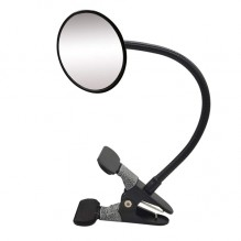 Round Frame Desk Mirror Clip On Cubicle Mirror for Personal Security