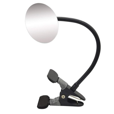 Round Frameless Clip On Desk Rear View Monitors Mirror for Personal Safety and Security