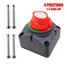 Ampper 1-2-Both-Off Battery Disconnect Switch, 12-48 V Battery Master Cut Shut Off Isolator Switch (1-2-Both-Off)
