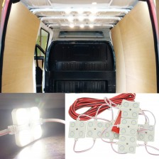 Ampper Van Interior Light Kits, LED Ceiling Lights Kit for Van Boats Caravans Trailers Lorries Sprinter Ducato Transit VW LWB (10 Modules, White)